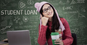 Woman deciding which student loan is best
